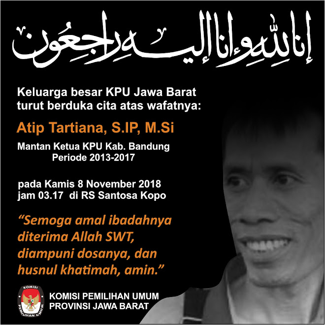 Innalilahi, Pak Atip Mantan Ketua KPU Kabupaten Bandung Meninggal