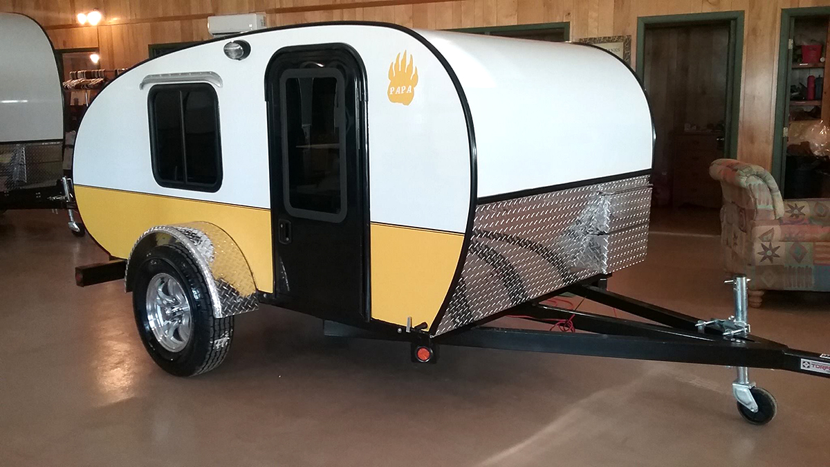 Tiny Yellow Teardrop: Rustic Trail Teardrop Campers