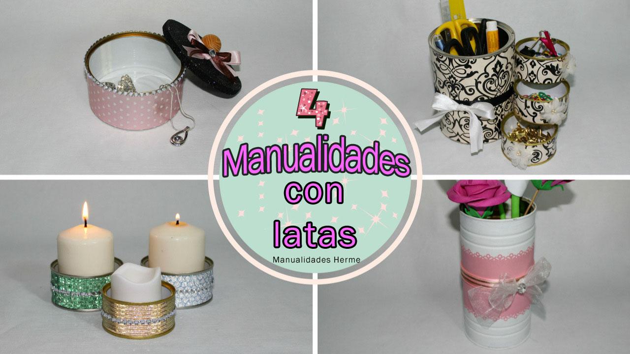 Manualidades herme 4 manualidades con latas - Manualidades faciles con latas ...