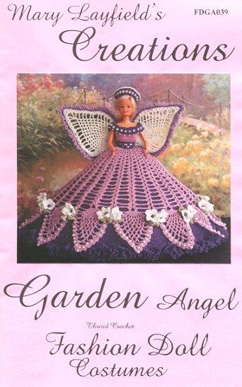 Vestido de Anjo de Crochê para Barbie com gráfico de Mary Layfields