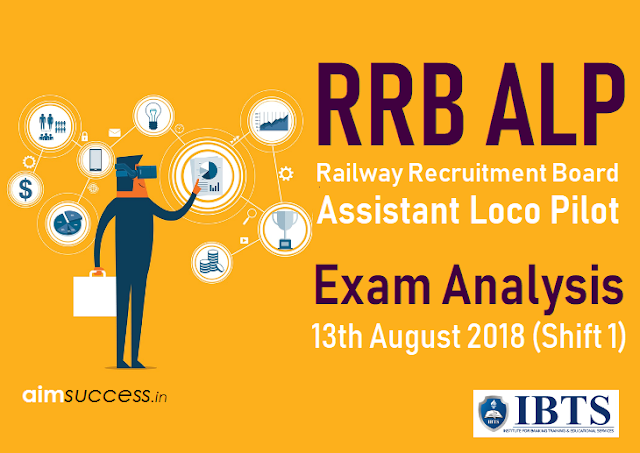 Railway RRB ALP Exam Analysis 13th August 2018 (Shift 1)
