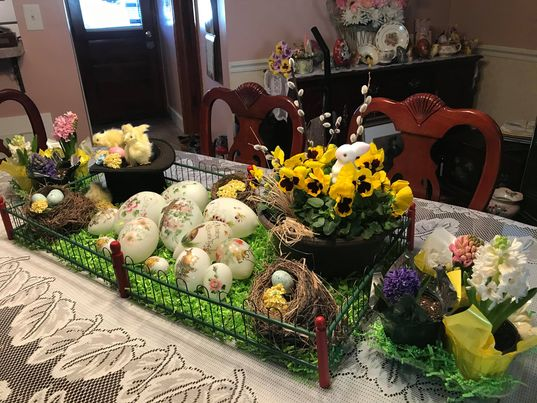 My Friend Anne Marie's Easter/Spring Home Tour, 2021