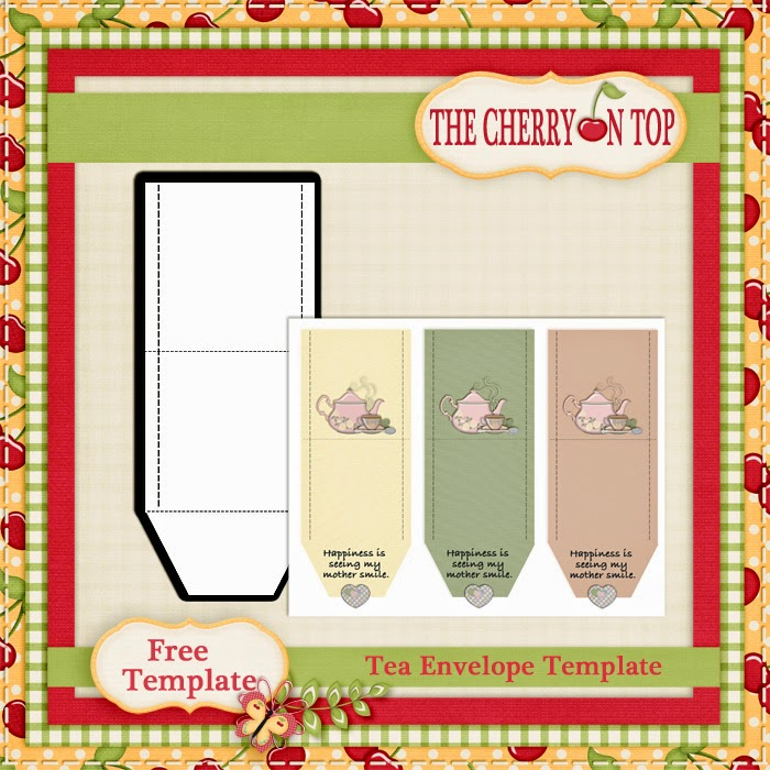 the cherry on top free tea bag envelopes and template from the