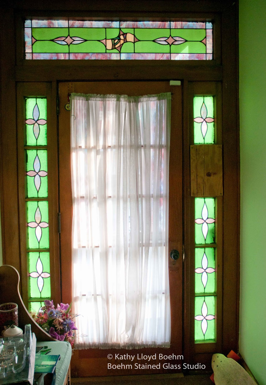 Boehm Stained Glass Blog: Stained Glass Front Door Panel ...