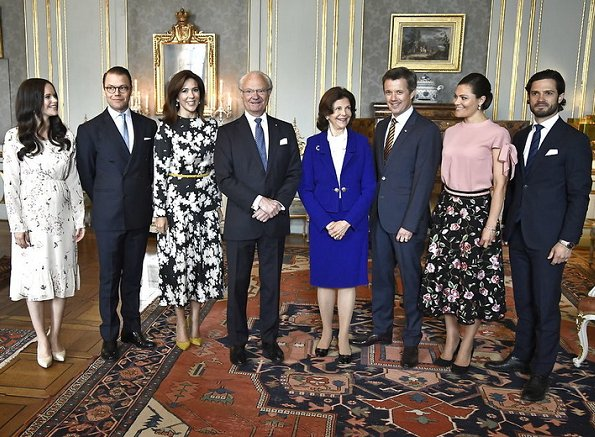 Crown Princess Victoria, Prince Daniel, Prince Carl Philip, Princess Sofia, Crown Prince Frederik, Crown Princess Mary, Queen Silvia, King Carl Gustaf