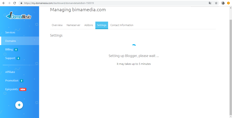 Cara Custom Domain Blogger Di Domainesia Secara Mudah Bima Media
