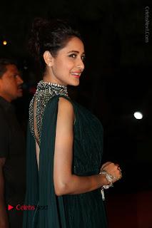 Actress Pragya Jaiswal Stills in Green Long Dress at Gemini TV Puraskaralu 2016 Event  0039.JPG