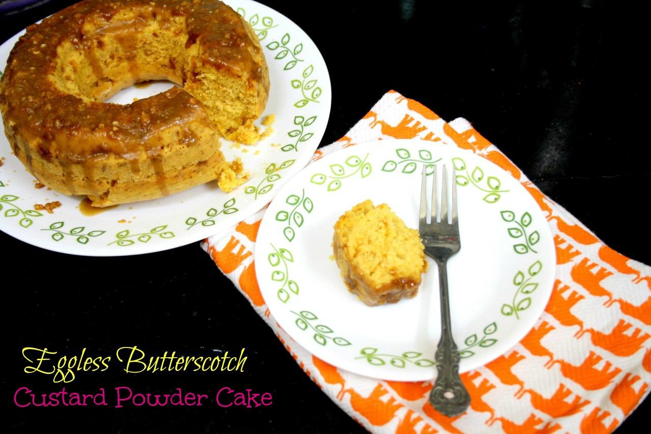 Eggless butterscotch sponge cake recipe