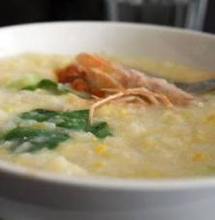 Resep Bubur Ayam Jagung Brokoli