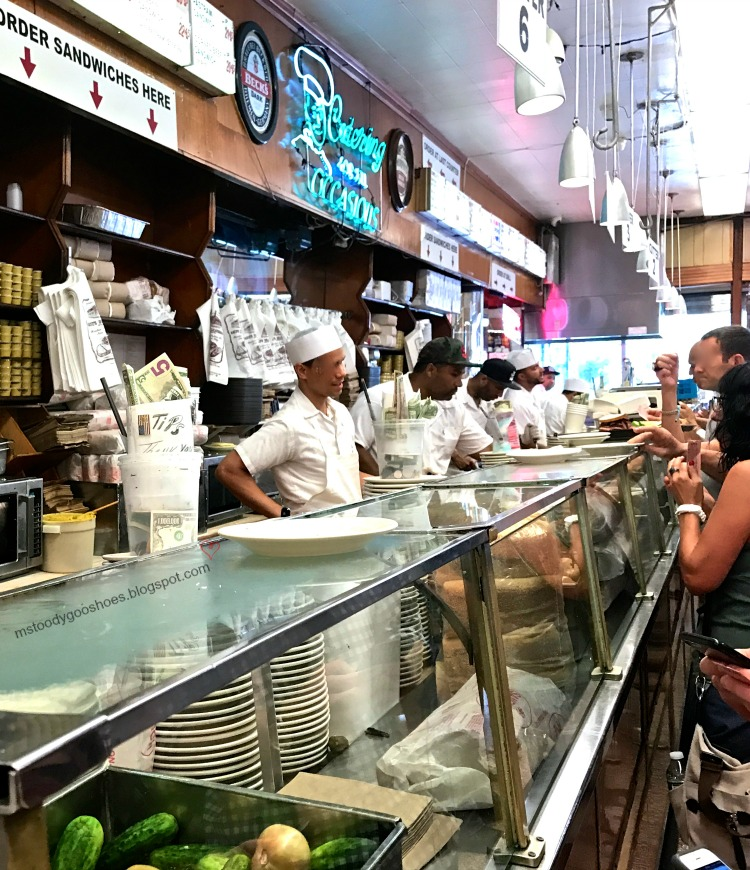 Ms. Toody goes to Katz's Deli in NYC | Ms. Toody Goo Shoes