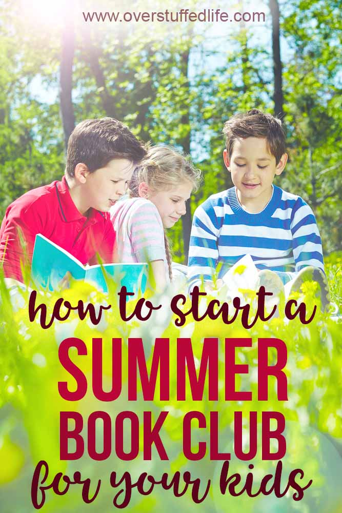 A summer book club for kids is a super fun way to get them reading more during the summer! Step by step instructions for hosting your own book club this summer with your children and their friends.