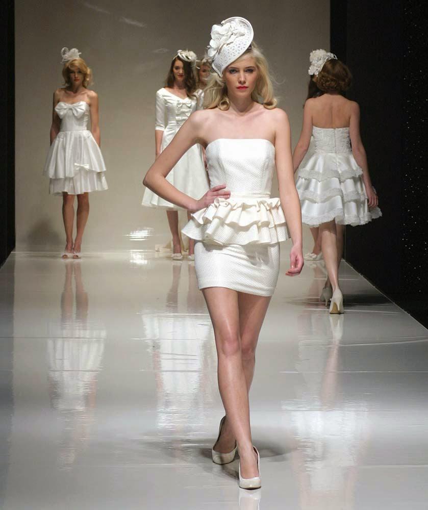 Short Rose Wedding Dresses Top Hats Pinterest Model