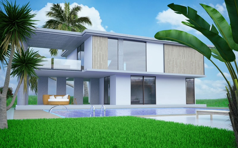rendering-for-modern-house
