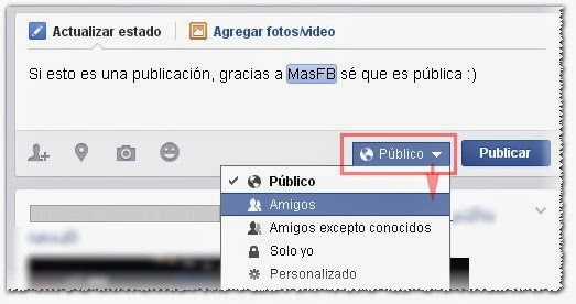 Darle privacidad al contenido en Facebook