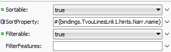 filterFeature property of table column to handle case sensitive search