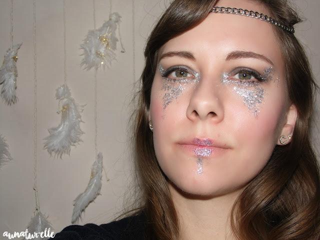 maquillage paillette argent