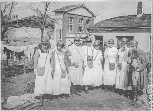 In the streets of Bitola (Monastir) - March 1917. The Dutch mission
