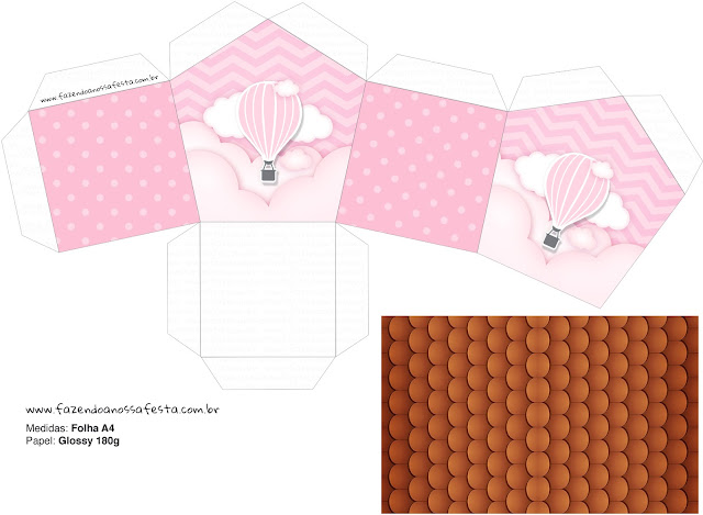 Flying in Pink: Free Printables House Shaped Box.