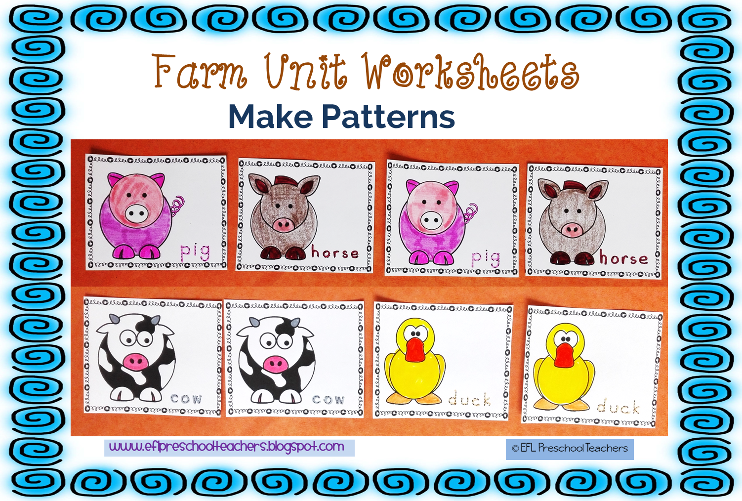 Esl Efl Preschool Teachers Farm Animals Theme For