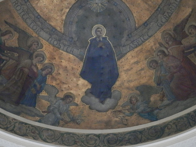 decorative ceiling depicting St. Gerard Majella
