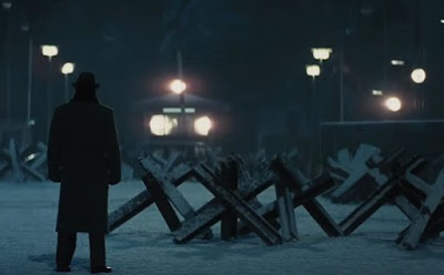 Bridge of Spies, starring Tom Hanks, Directed by Steven Spielberg, East Berlin, Night Scene, checkpoint