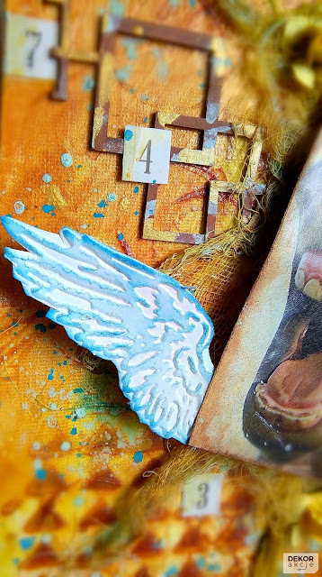 scrapbooking wings mixed media
