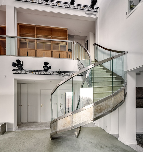 Picture of glass and iron staircase