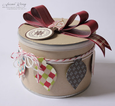 Decorated Peanut Tin