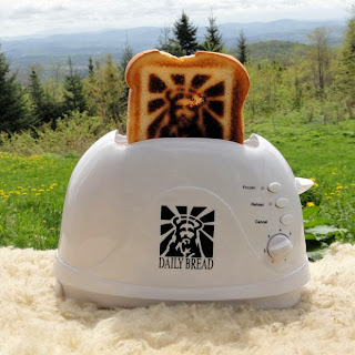 Funny Jesus Daily Bread toaster gadget photo