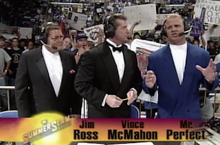 WWF / WWE SUMMERSLAM 1996 - Jim Ross, Vince McMahon and Mr. Perfect are our commentary team