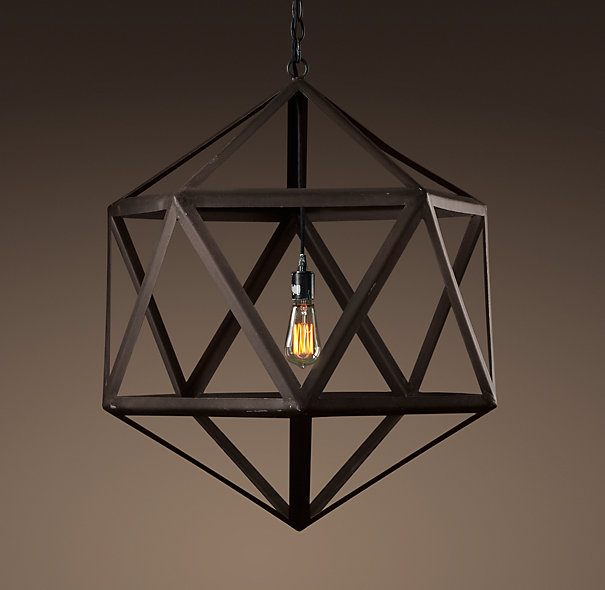 Restoration Hardware Lights For Less: Humble Hardy Happenings: Geometric Light Fixtures : The