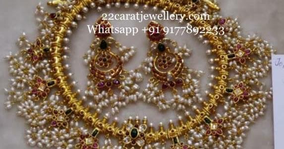 Grand Guttapusalu Long Haram Designs In Silver Jewellery