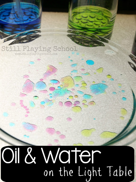 Oil and Water on Light Table