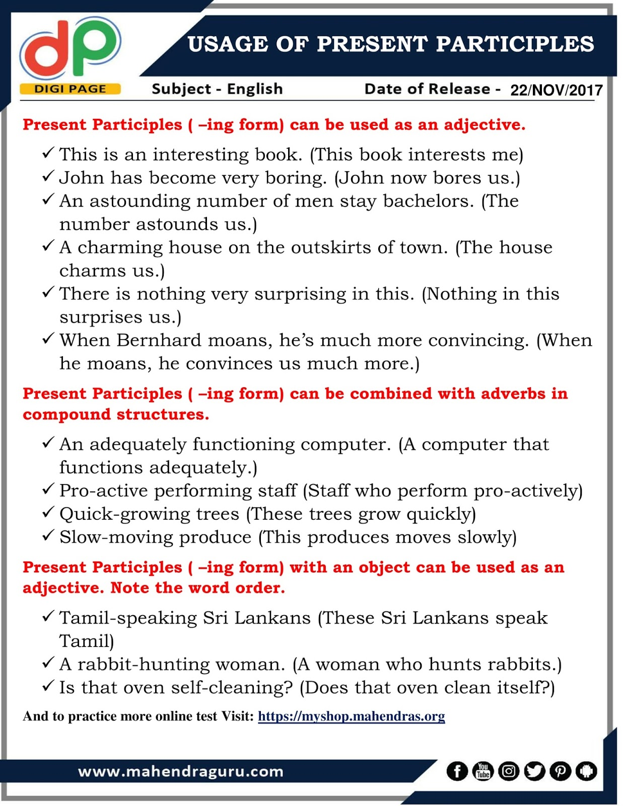 essayer present participle To conjugate any other english or future conjugation of essayer french verb you can use the search box indicative, past tense, participle, present perfect, gerund.