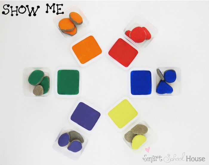 Show Me the Color Game for Teaching Toddlers Colors
