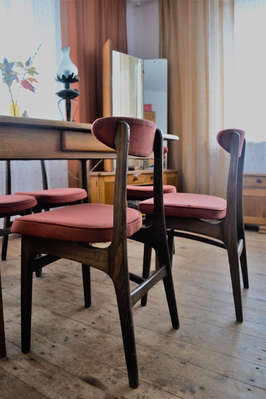 odnowione krzesło, vintage, PRL, krzesła, lata 60' , Hałas, Halas,