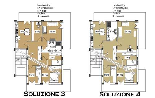 6 Camere In 130 Mq Arredamento Facile