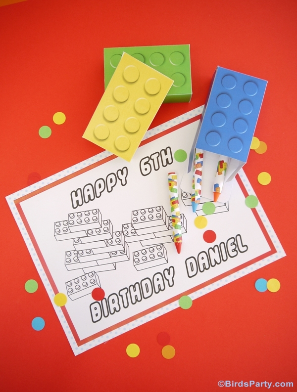 Kids Party Ideas | A Lego Inspired Birthday - BirdsParty.com