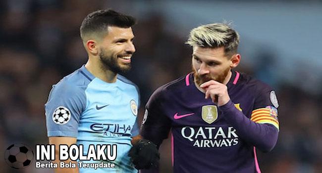Tolak Ke City, Messi Ingin Aguero Ke Barcelona