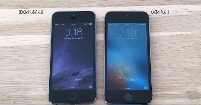 iOS 9.1 vs iOS 8.4.1 on iPhone 5S / 5 / 4S (Video)