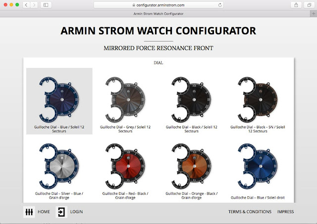 Armin Strom Mirrored Force Resonance watch configurator