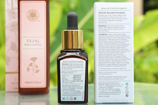 Forest Essentials Rasa Activating Serum Ingredient, Price, Review