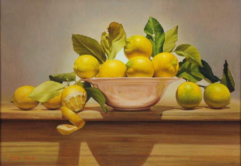 Cuadros pinturas oleos frutas sobre manteles y mesas de - Imagenes de mesas con manteles ...