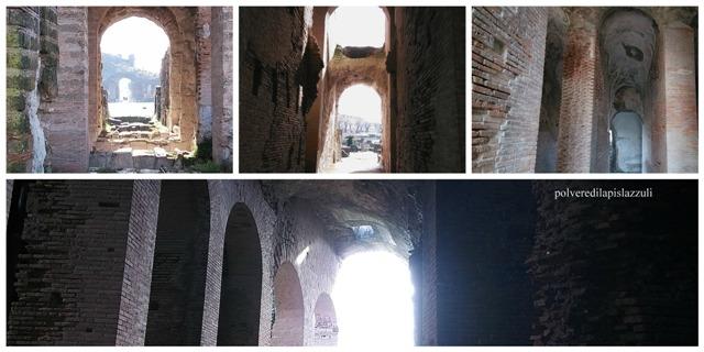 Particolari della tecnica costruttiva dell'anfitetaro dell'antica Capua