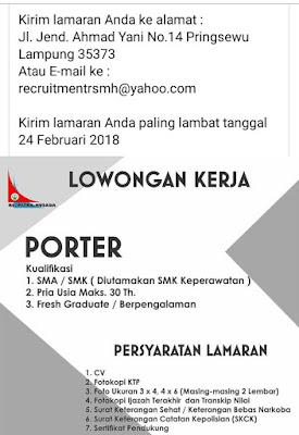 Dibutuhkan Segera di Rumah Sakit Mitra Husada Pringsewu Lampung Terbaru Februari 2018.