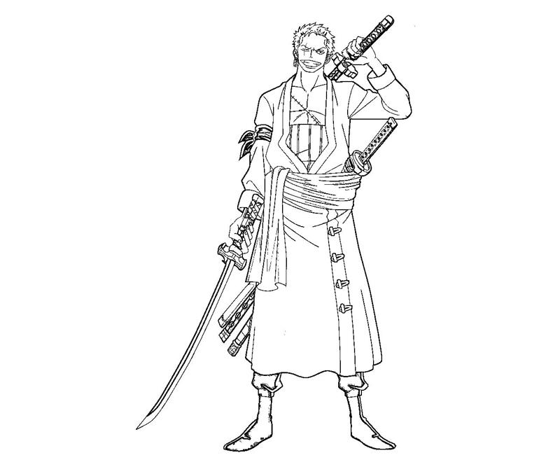 Roronoa zoro 9 coloring crafty teenager for Zoro coloring pages