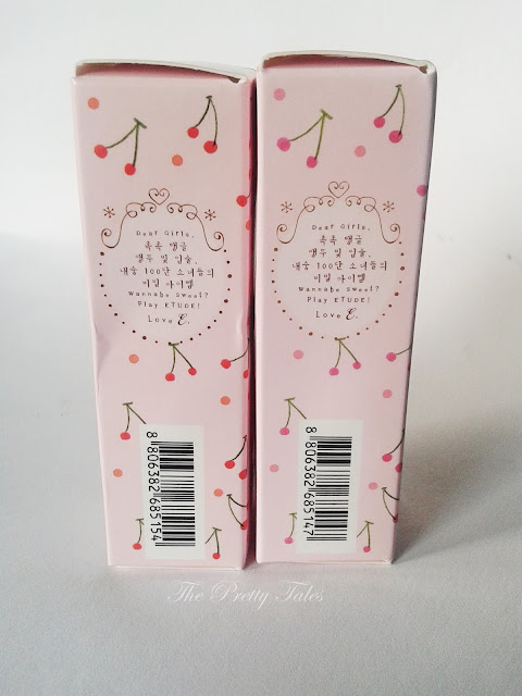 etude house fresh cherry tint cherry pink and cherry peach review