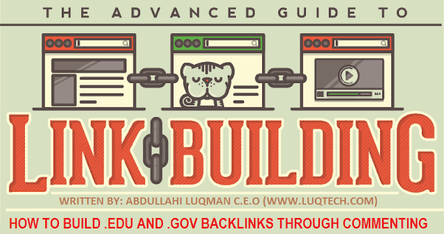How to build .edu and .gov Backlinks by commenting