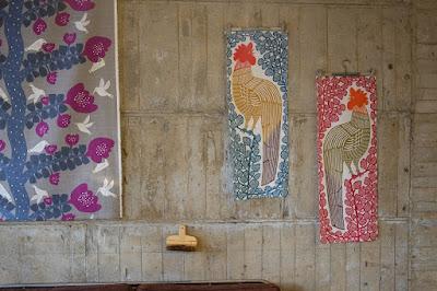 東京つつじヶ丘のオリジナルの染布制作 kata kata 鶏の手ぬぐい