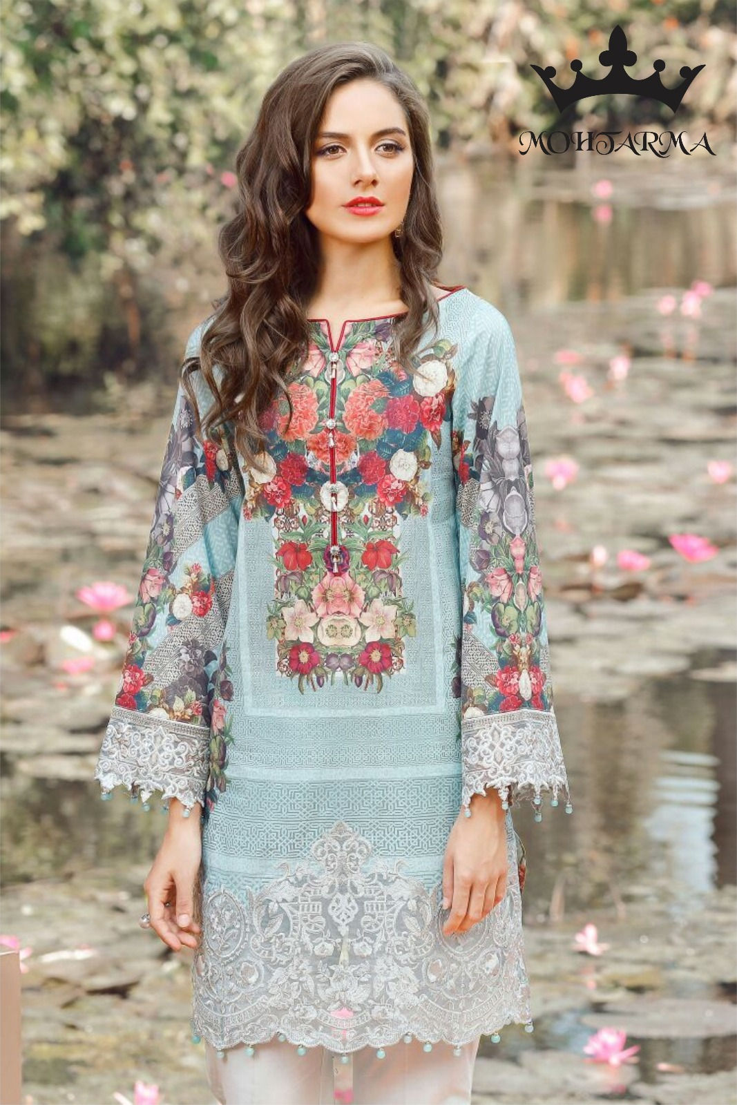 Baroque – Digital Printed Designer Pakistani Style Dress Material